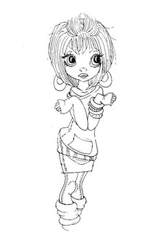 """Risultati immagini per Little Darlings Saturated Canary """"Windy Day"""" Cute Coloring Pages, Coloring For Kids, Adult Coloring Pages, Coloring Books, Printable Pictures, Copics, Digital Stamps, Craft Work, Big Eyes"""