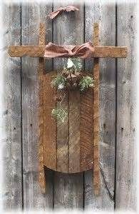 primitive christmas crafts - -you can tea or coffee dye the ice cream stick to give them that primitive look