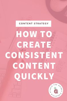 How To Create Consistent Content Quickly - Nerty Wanderschek Content Marketing Tools, Digital Marketing Strategy, Social Media Content, Social Media Tips, Social Media Marketing, Marketing Ideas, Business Advice, Online Business, Craft Business