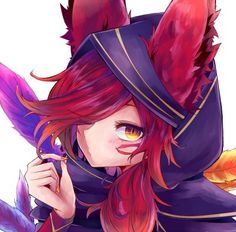 Xayah by しまった HD Wallpaper Background Fan Art Artwork League of Legends lol