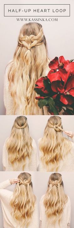 Heart Shape Hair Tutorial