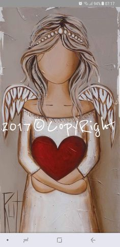 Angel Drawing, Angel Crafts, Angel Pictures, Angel Art, Pictures To Paint, Painted Rocks, Folk Art, Art Drawings, Sketches