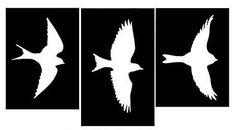 Plantillas de aves volando para decorar paredes Nicolas Vanier, Stencils, Frame Wall Decor, Moose Art, Manhattan, Delaware, D1, Parrots, Models