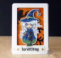 Paperbabe Stamps ~ MLD Witchily red Rubber Cling Designer ~ Kim Costello