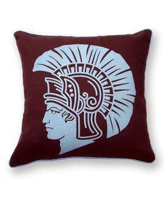 Look at this #zulilyfind! Burgundy Spartan Reversible Throw Pillow #zulilyfinds