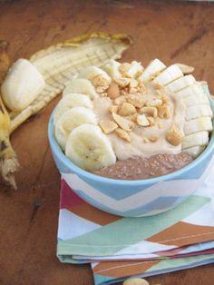 PB2 Yogurt Frosting on Chocolate Overnight Oatmeal [Vegan]