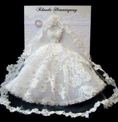 Reservados encargo para Rebecca tarjeta de vestido de boda
