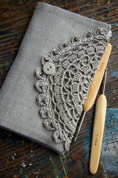 Linen Crochet Hook Case  Holder  Organizer by namolio on Etsy