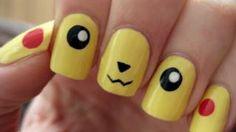 Pokemon: Pikachu Nails, via YouTube.