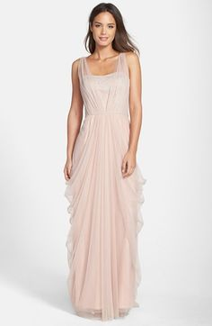 Free shipping and returns on Vera Wang Sleeveless Chiffon Gown at Nordstrom.com. Silvery floral detailing shimmers through the gracefully draped chiffon overlay of a head-turning sleeveless gown finished with a dramatic, ethereal train.