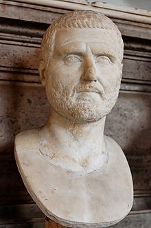 Gordian I (Latin: Marcus Antonius Gordianus Sempronianus Romanus Africanus;[5] c. 159 – 12 April 238) was Roman Emperor for one month with his son Gordian II in 238, the Year of the Six Emperors. Caught up in a rebellion against the Emperor Maximinus Thrax, he was defeated by forces loyal to Maximinus before committing suicide.