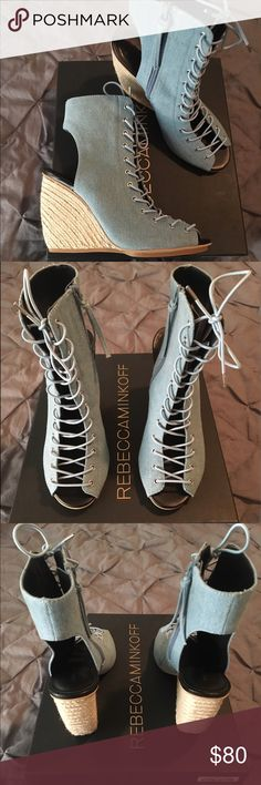 Rebecca Minkoff Elle Lace-Up Espadrille Wedge Never been worn brand new Rebecca Minkoff wedge! Open to offers Rebecca Minkoff Shoes Wedges