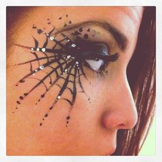 In Your Dreams cobweb eye www., Your Dreams cobweb eye www.inyour-dreams…, In Your Dreams cobweb eye www.inyour-dreams… , In Your Dreams cobweb eye www. Cute Halloween Makeup, Halloween Eyes, Halloween Pumpkin Makeup, Pretty Halloween, Halloween Party, Halloween Costumes, Spider Costume, Costume Makeup, Makeup Ideas