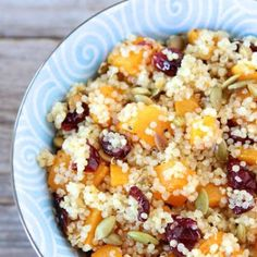 Quinoa Salad with Butternut Squash, Dried Cranberries