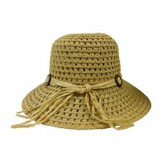 Crochet Straw Big Brim Hat