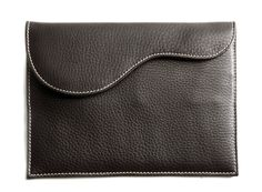 Chocolate Leather Pad Case / Envelope | Oughton Limited