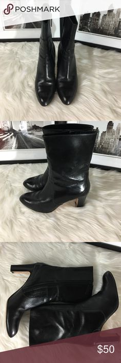 Cole Hann Ankle Boot Stylish Ankle Boot, by Cole Hann.  In good condition, does have scuff at the tip of toe. Lots of life! Heel is about 2 1/2 to 3 inches. Cole Haan Shoes Ankle Boots & Booties