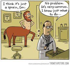 It's just a sprain, Doc