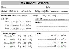 Home Daycare Daily Infant Report Version mac & peas – Rebel Without Applause Daycare Names, Daycare Forms, Home Daycare, Daycare Ideas, Kids Daycare, Daycare Crafts, Preschool Ideas, Daycare Daily Sheets, Infant Room Daycare