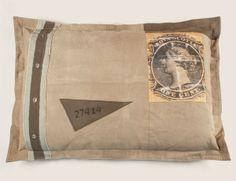 Postage Stamp Pillow 42 x 31 $156.25
