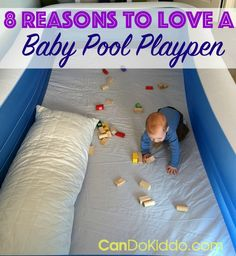 "How do you baby proof a house with an open-floor plan? How can you keep  your crawling, active baby safe and contained? Now that our little one is  ""on the move"" our baby pool playpen is our daily lifesaver."