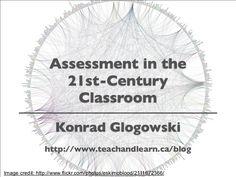 assessment-in-the-21stcentury-classroom-presentation by Konrad Glogowski via Slideshare