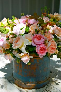 Never thought of using my firkin for a floral arrangement - love this idea!
