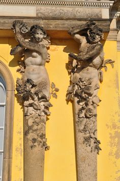 Statues from the Sanssouci Palace, Potsdam, Germany