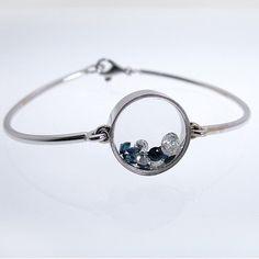Diamond and Sapphire Custom Bangle - Scott's Custom Jewelers