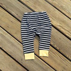 Navy stripe harems boys pants gender neutral by sweetwhitepeony2