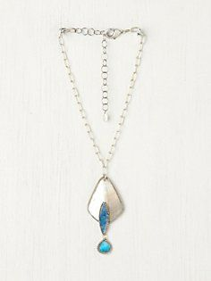 Turquoise Three Tier Shell Pendant in march-catalog-sneak-preview-2
