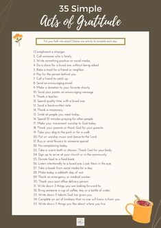 Here are 35 ways to express gratitude with simple acts of kindness.