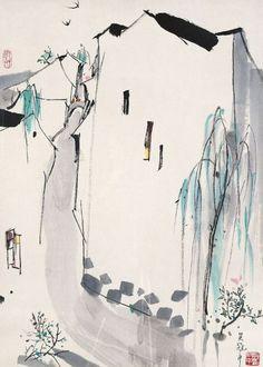 dashuhua.com →  workman:    iamjapanese:    Wu Guanzhong(吴冠中 Chinese, 1919-2010)