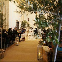 Decoración rustica, elegante y mediterránea en iglesias. Precioso!