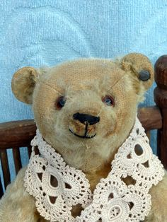 "ANTIQUE STEIFF TEDDY BEAR GORGEOUS HAPPY TED! VINTAGE OLD TOY 12"" BLONDE 1920`s #Steiff Look at that happy face!"
