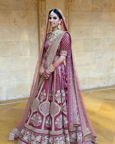 The colour of your lehenga makes your bridal look unique! Explore our list of Indian bridal lehenga colours inspirations that you'd surely fall in love with! Indian Bride Dresses, Indian Bridal Outfits, Indian Bridal Lehenga, Indian Bridal Fashion, Indian Bridal Wear, Indian Designer Outfits, Bridal Dupatta, Asian Bridal, Designer Bridal Lehenga