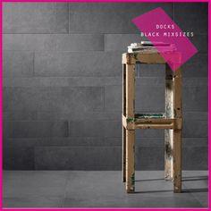 ABK #wall collezione DOCKS Black, tono intenso e marcato, ideale per creare contrasti e lasciare un segno indimenticabile.#abkemozioni #ceramica #ceramics #design #tile #gres #porcellanato