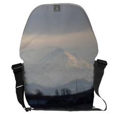 Mount Shasta: Sunset on Snow II SDL Bag 2 Messenger Bag