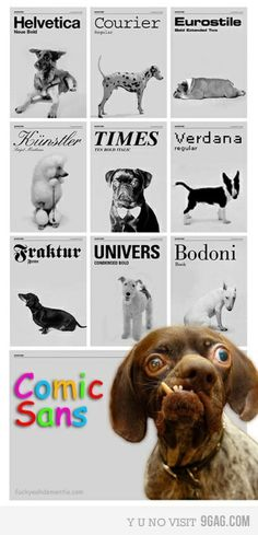 Ah-hahahaha! If Fonts were Dogs.