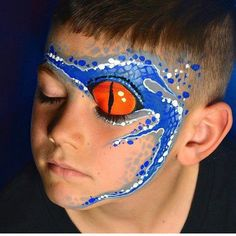 Face Painting Design Gallery – Top Of The World Dinosaur Face Painting, Monster Face Painting, Dragon Face Painting, Eye Face Painting, Face Painting For Boys, Face Art, Body Painting, Face Paintings, Snake Face Paint