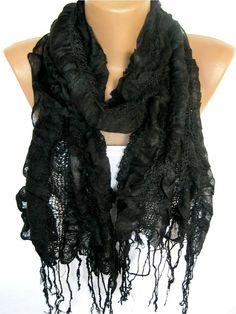 Black Scarf Trend Scarf Fashion Scarf  by SmyrnaShop on Etsy, $17.90