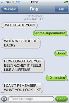Nailed it.  Love texts from dog!  My kids sound like this too!
