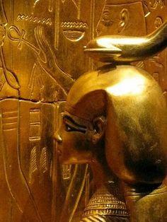 Photo: Treasures of king Tutankhamun's Tomb..  Serqet .. Goddess of scorpions, medicine, magic, and healing venomous stings and bites