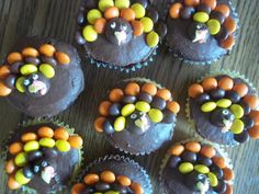 Reese's pieces turkey cupcakes Happy Thanksgiving