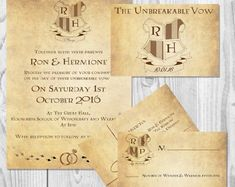 Harry Potter Wedding Invitation Set ~Digital~