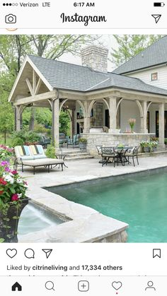 Exterior space with pool and covered patio