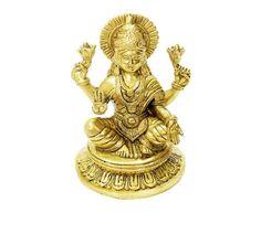 Goddess Laxmi Idol Hindu Religious God Sculpture Festival