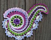 WHIRLY SPIRAL - crochet pattern, pdf