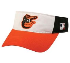 """Baltimore Orioles Officially Licensed MLB Adjustable Velcro Adult Visor by Outdoor Cap. $9.45. Made by OC Sports; 100% Cotton Twill; Pre-Curved Bill; Adjustable Velcro Fit; Official MLB Licensed Baseball Visor. Show your team spirit every day with this Authentic Official MLB Licensed Baltimore Orioles visor. These 100% cotton twill visors are made by OC Sports and feature a 3D logo on a 2 1/4"""" crown. They also have a Pre- Curved Bill with Adjustable Velcro Fit with the..."""