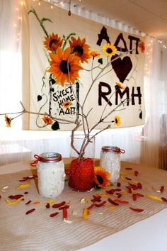 Philanthropy Round decor with a rustic feel.